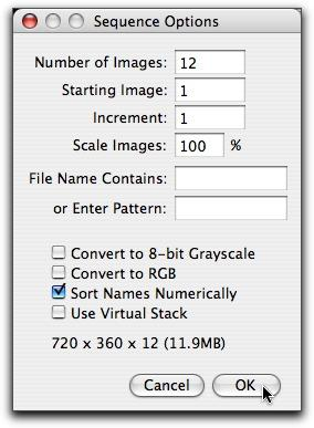 Sequence Options  Box