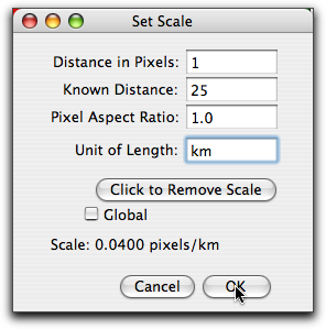 Set Scale Dialog Box