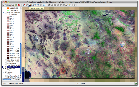 4 zoomed to Landsat