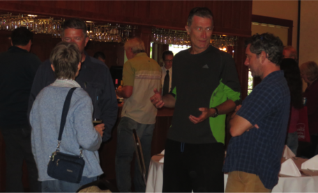 Participants mingle at the GeoEthics workshop