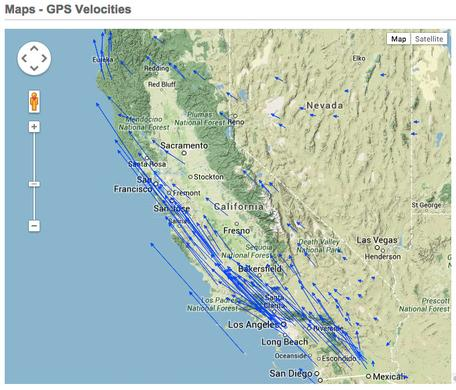 GPS velocities from the western USA