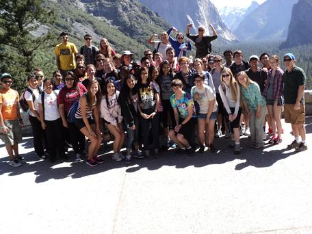Students from Frontier High School on a field trip to Yosemite