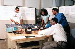 Students work on photovoltaic research