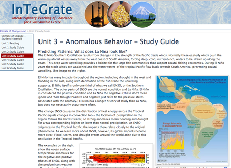 Example of Student Materials from the Climate of Change module