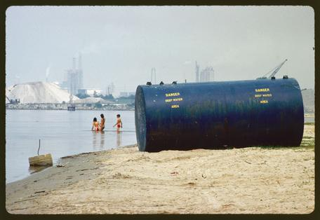Chemical plants on shore are considered prime source of pollution