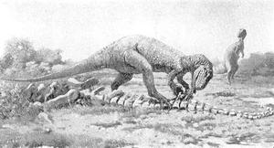 Allaosaurus and its lunch