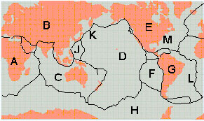 Worldwide Tectonic Map