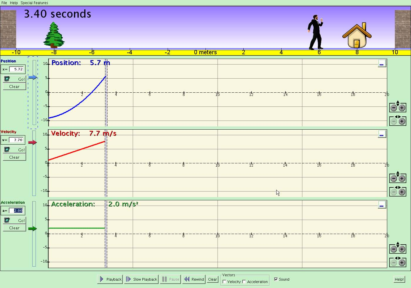 Motion Concepts: Displacement, velocity, & acceleration graphs