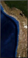The Peru-Chile trench as seen from orbit. Photo courtesy of NASA.