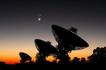 Planets Align Over Australian Radio Telescope Array