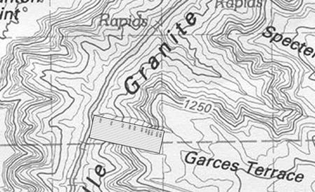 Garces Terrace marked (Grand Canyon)