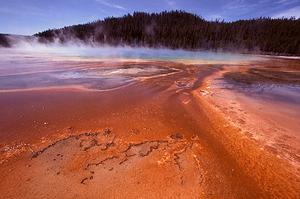 Grand Prismatic, the largest hot spring in Yellowstone National Park.