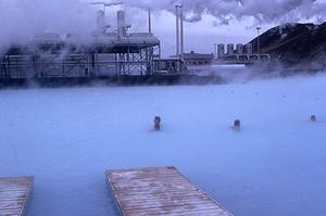 The Blue Lagoon, a popular geothermal spa in Iceland