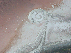 Spiral Jetty of Great Salt Lake