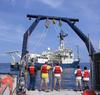 Rendezvous between the RV Weatherbird II and the RV Oceanus at Hydrostation S in the Northwestern Sargasso Sea in June of 2005.