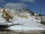 Image of Angle Terrace at Mammoth Hot Springs.