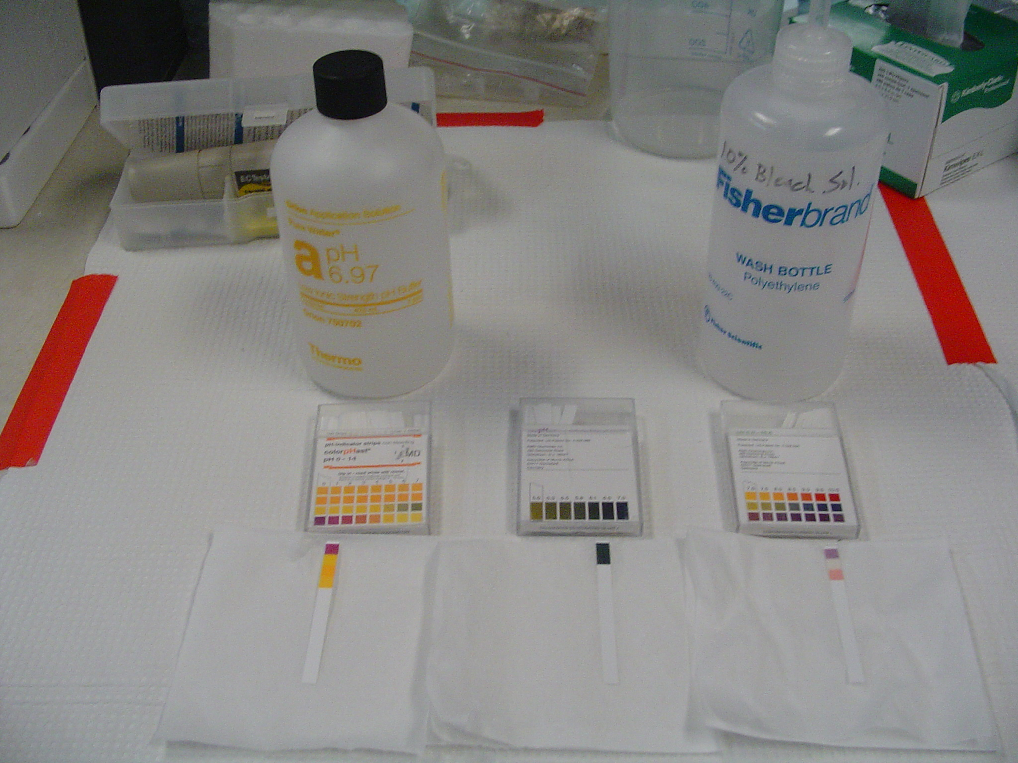 ph test solution instructions