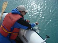 Using a Secchi disk to measure turbidity