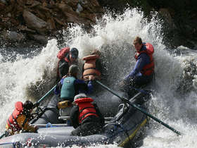 Rafting the Nenana River Gorge