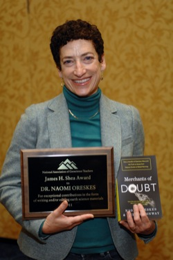 Naomi Oreskes with James Shea Award