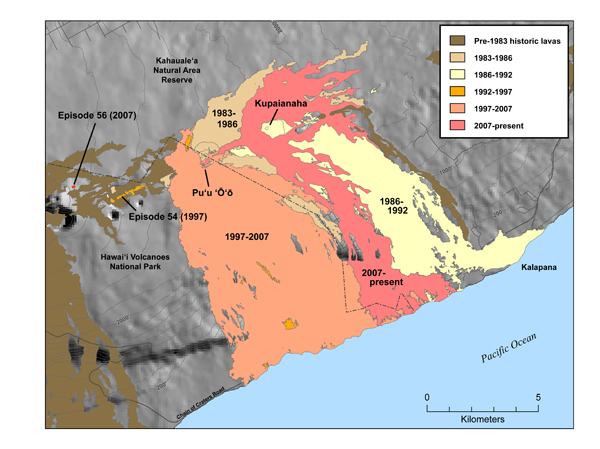 Lava Flow Map through 2009