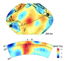 "Seismic tomography indicates a correlation between the Pacific ""superswell"" and geophysical characteristics of the upper mantle."