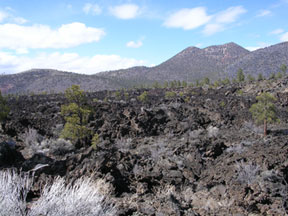 Bonito lava flow at Sunset Crater