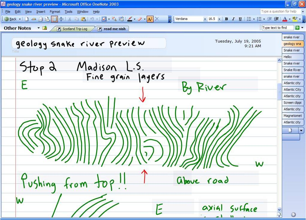 Sketching in OneNote