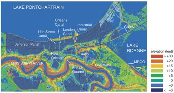 Topography Of New Orleans