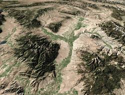 Aerial photo of the beaverhead river in Montana.