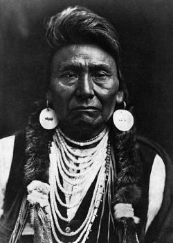 Portrait of Tribal Leader Chief Joseph.