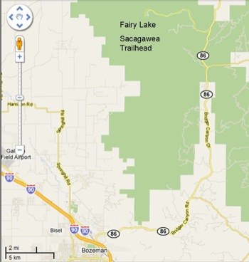 Map to Fairy Lake