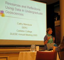C Manduca giving talk at 2003 DLESE