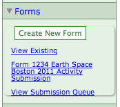 existing forms screenshot