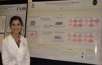Zaleh Amini, LSU Biological Sciences Junior showcases her research project at the 2009 annual poster forum.