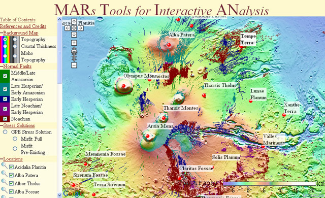 Google Maps - Mars Tools for Interactive Analysis