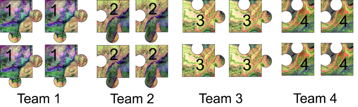 graphic of jigsaw teams
