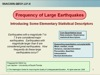 title slide of earthquake frequency module