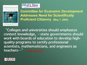 Slide 23 from Ridkey presentation at 2003 Teacher Prep workshop