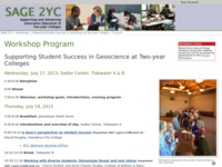 Go to /sage2yc/studentsuccess/workshop2013/program.html