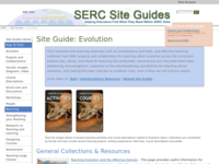 Go to /serc/site_guides/evolution.html