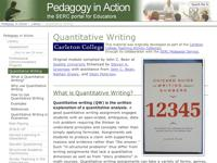 Go to http://serc.carleton.edu/sp/library/quantitative_writing/index.html