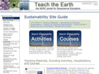 Go to /teachearth/site_guides/sustainability.html