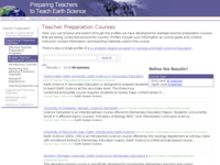 Go to /teacherprep/preservice/courses.html