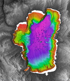 USGS Bathymetry Image of Lake Tahoe.