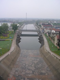 Figure 3: Drainage channel at Henshang reservoir