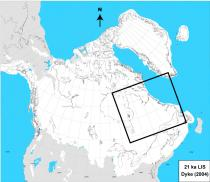 Figure 1. The Laurentide Ice Sheet at the Last Glacial Maximum