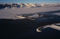 Figure 1: Oblique aerial photo of jökulhlaup at Skeiðarársandur, south Iceland, 6 November 1996.
