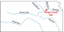 Location map, Kings Creek site