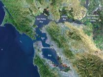 Satellite Image of San Francisco Bay